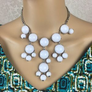 White necklace, costume jewelry